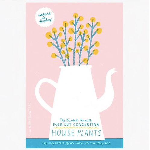 House Plants: Concertina Book
