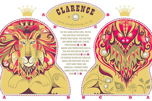 Clarence the Lion Tea Towel/Sewing Kit