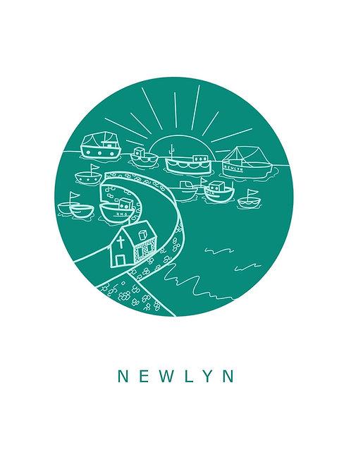 Newlyn Harbour Print