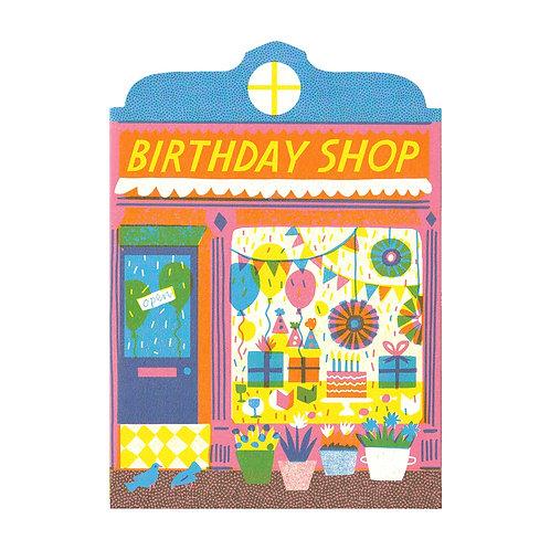 Birthday Shop Die Cut Card