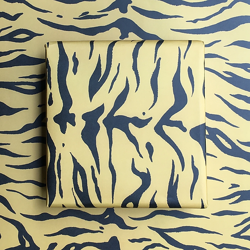 Wrapping Paper - Tiger - Mustard