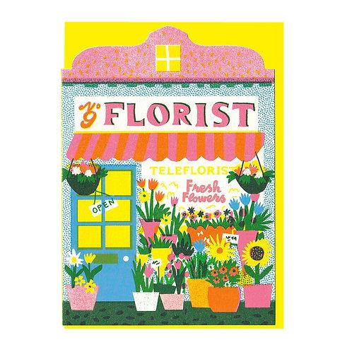 Florist Shop Die Cut Card