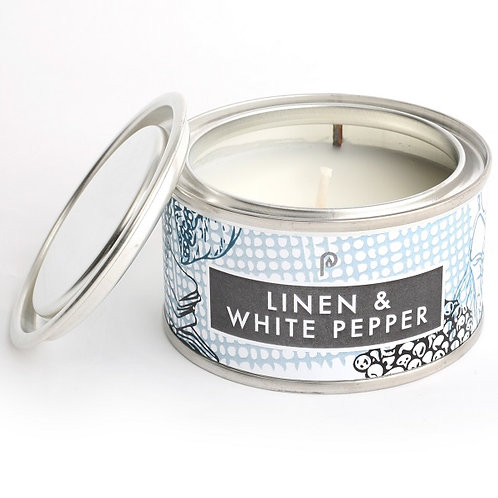 Linen and White Pepper Artisan Candle