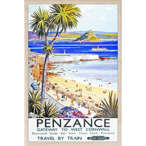 Penzance Wooden Postcard