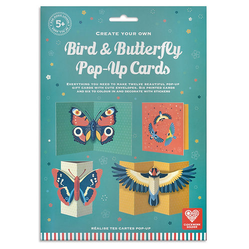Make Your Own Bird and Butterfly Pop Up Cards