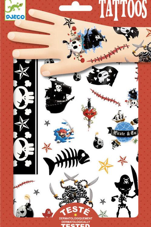 DJECO Temporary Tattoos - Pirates