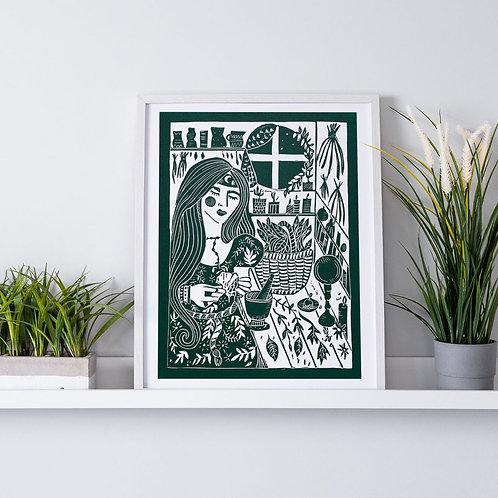 The Herbalist's Kitchen Print