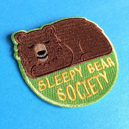 Iron on Patch Sleepy Bear Society