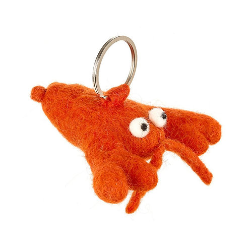 Felted Lobster Keyring