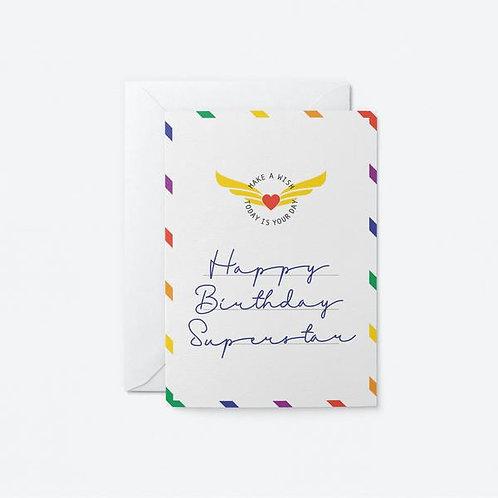 Happy Birthday Superstar Card