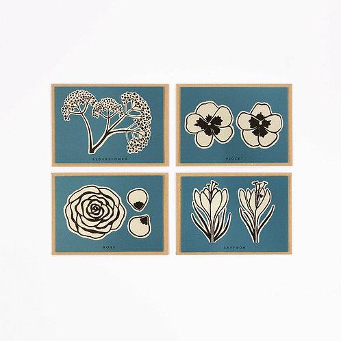 Flower Recipe Cards