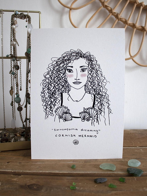 Cornish Mermaid Postcard