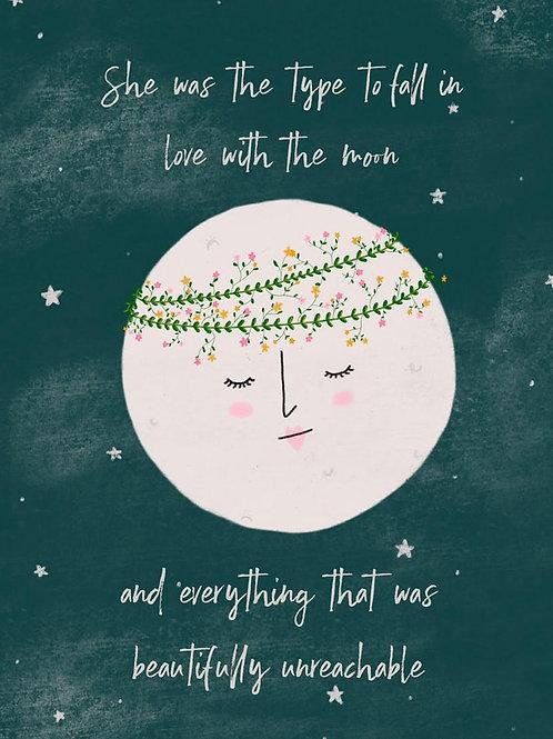Moon Love A4 Print