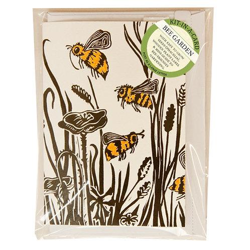 Mini Bee Garden Kit in Cornfield Bees Card