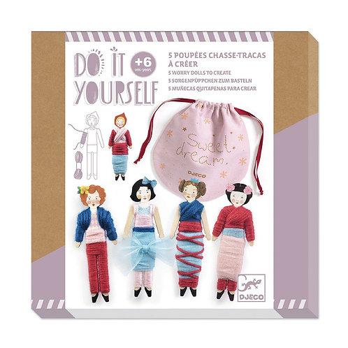 DJECO Do It Yourself Worry Dolls Kit