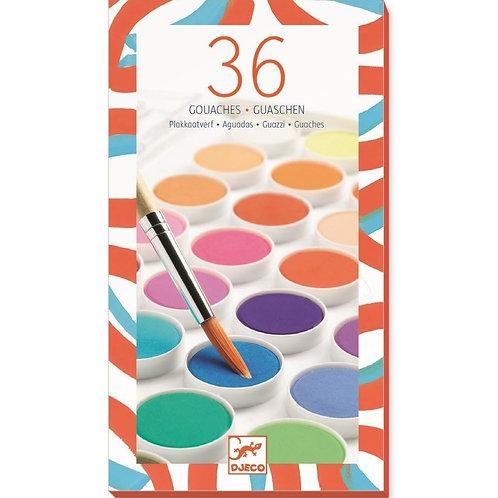 DJECO 36 Gouaches - Watercolour Paint Set