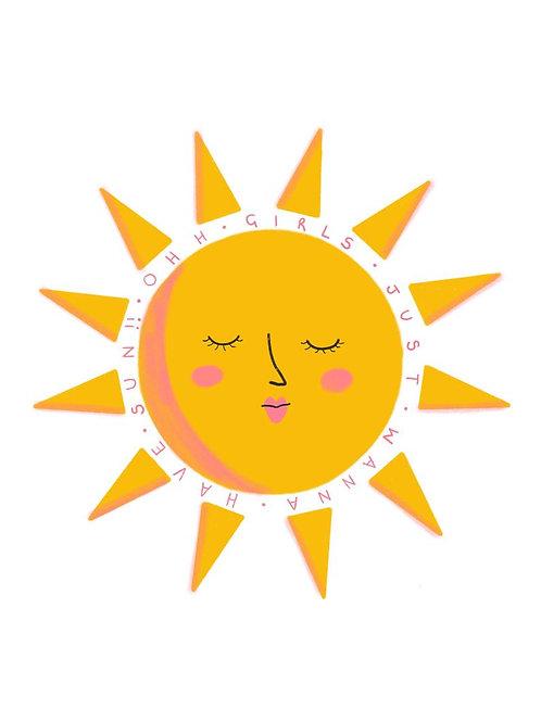 Girls Just Wanna Have Sun Postcard