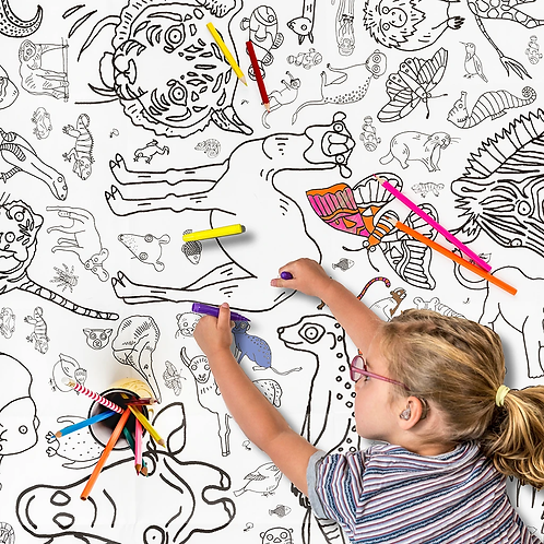 Amazing Animals - Giant Colouring In Tablecloth/Poster