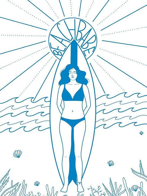 Beach babe A4 Print