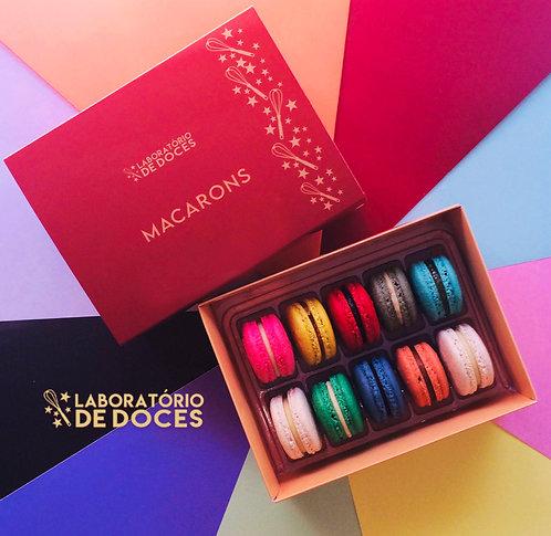 Caixa de Presente - 10 Macarons