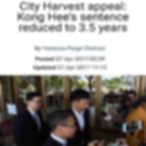 City Harvest appeal: Kong Hee Sentence reduced to 3.5 years