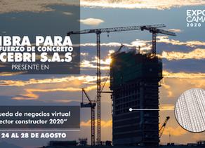 """Fibra para refuerzo de concreto, presente en """"La rueda de negocios virtual del sector constructor""""."""