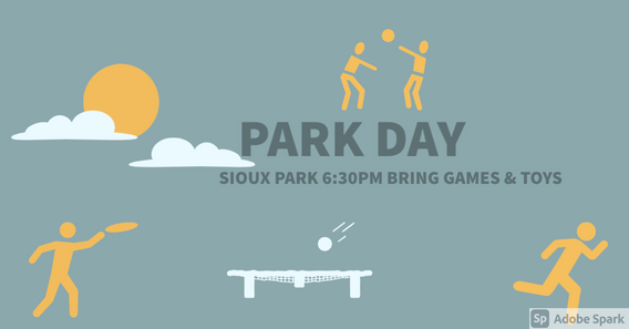 Friday, July 9th at 6:30 PM, Sioux park!
