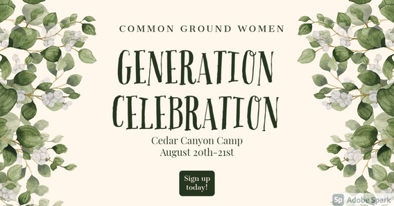 Women's Ministry Retreat! Come celebrate being together regardless of age! Time will be sp