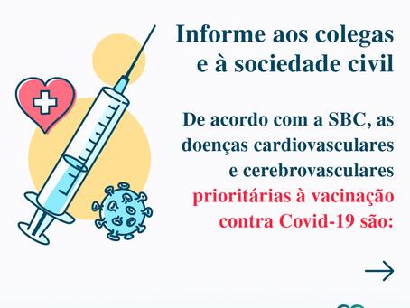 Doenças cardiovasculares e cerebrovasculares prioritárias à vacinação contra Covid-19