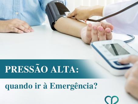 Pressão alta: quando ir à Emergência?