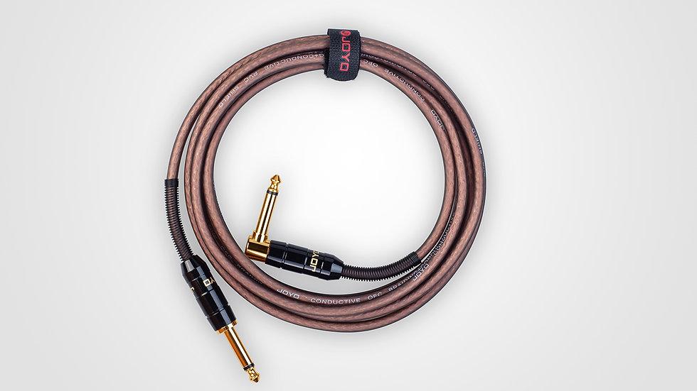 JOYO Hi-End Cable 6.3mm(straight/elbow plug直彎頭 3M) CM-19 & CM-22