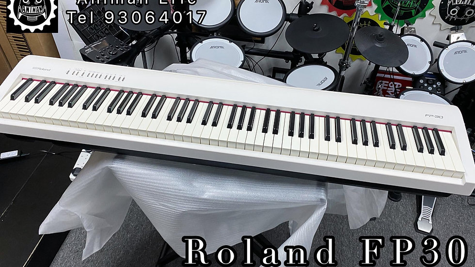 Roland FP30 White|單機 包火牛、譜架、單腳PEDAL|代CALL貨VAN 送貨服務 運費到付