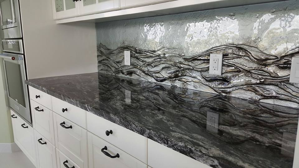 Countertop and Designer Backsplash