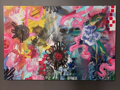 """Organic Code"" 36"" x 24""Acrylic Canvas"