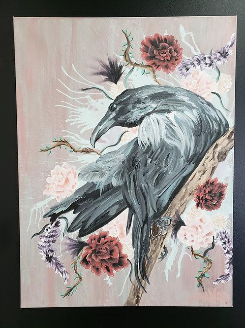"""The Raveness"" 32"" x 24"" Acrylic Canvas"