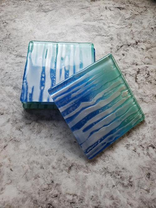 Glass Coaster Set