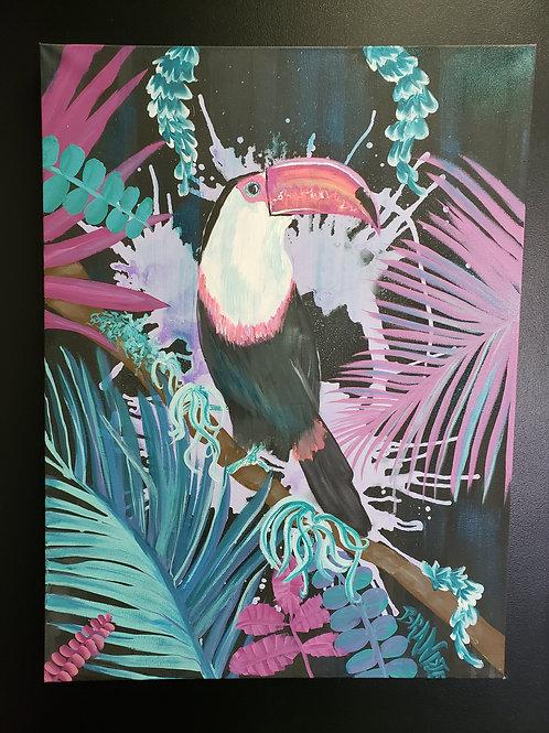 """""""Toucan"""" 32"""" x 24"""" Acrylic Canvas"""