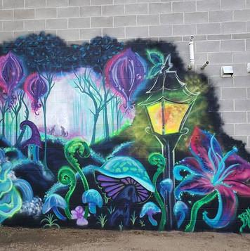 Spray Paint Mural in Saskatoon