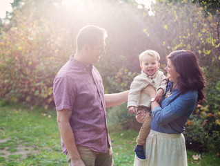 Family of Three Session: A Sunny Fall Afternoon . Mukilteo, WA