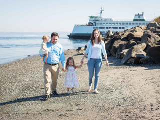 Family of Four Session: A Morning at the Beach . Mukilteo, WA