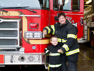 Grandma and Me Session: Seattle Firefighters . Seattle, WA