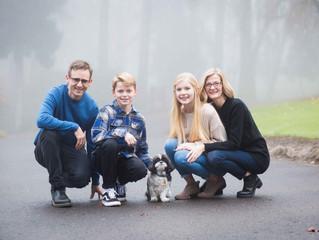 Foggy Family Session at Cooper Mountain . Portland Oregon Family Photographer