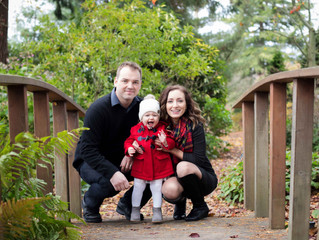 Family of Three Mini Session: A Little Family's Big Announcement . Everett, Wa