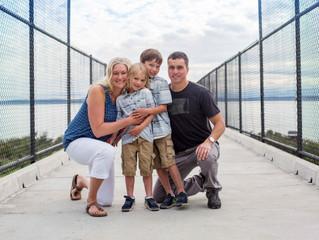 Family of Four Session: Boys at the Beach . Shoreline, WA