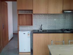 2 kitchen fridge stove microwave spot