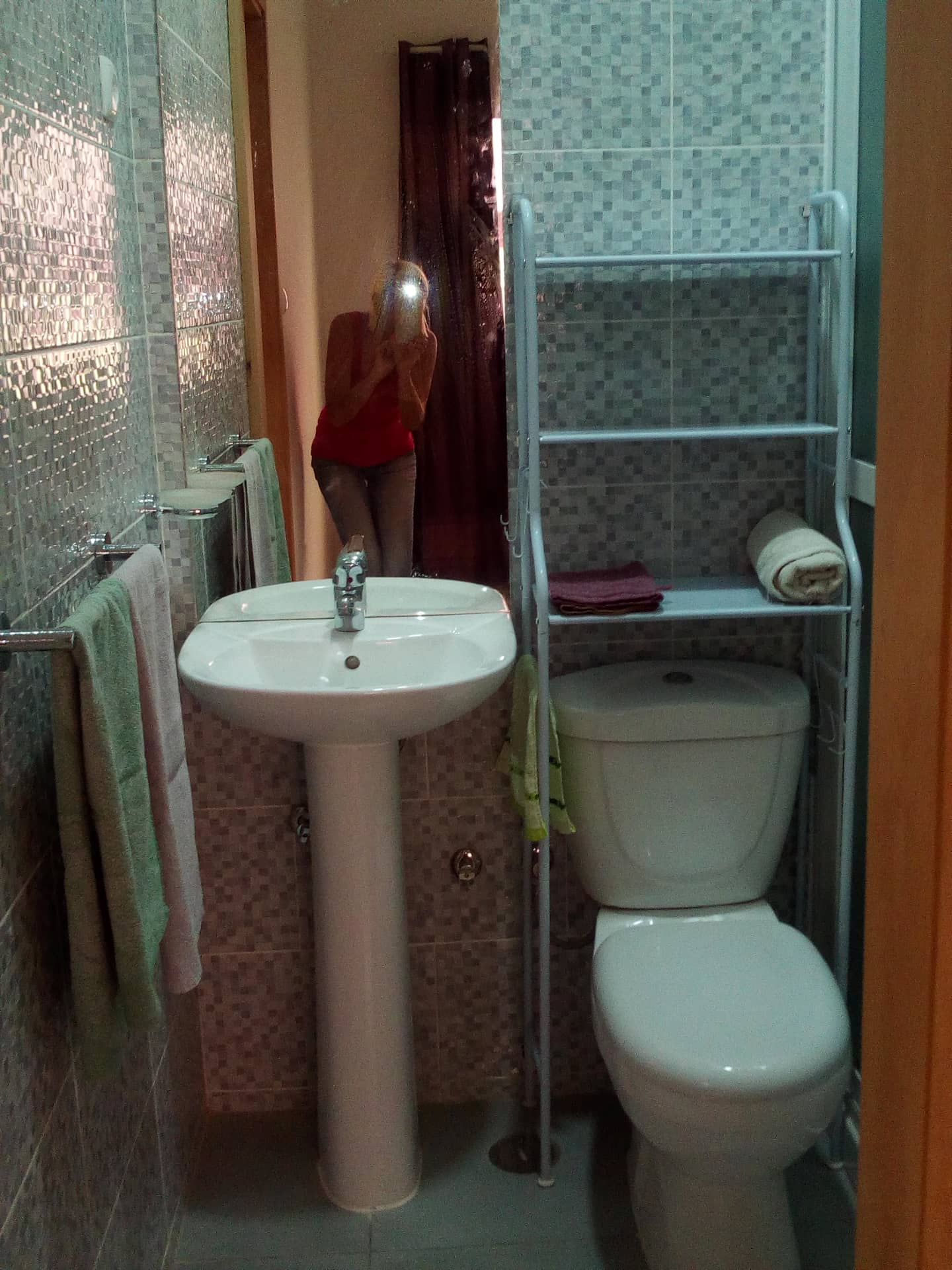 8 bathroom lavatory and toilet