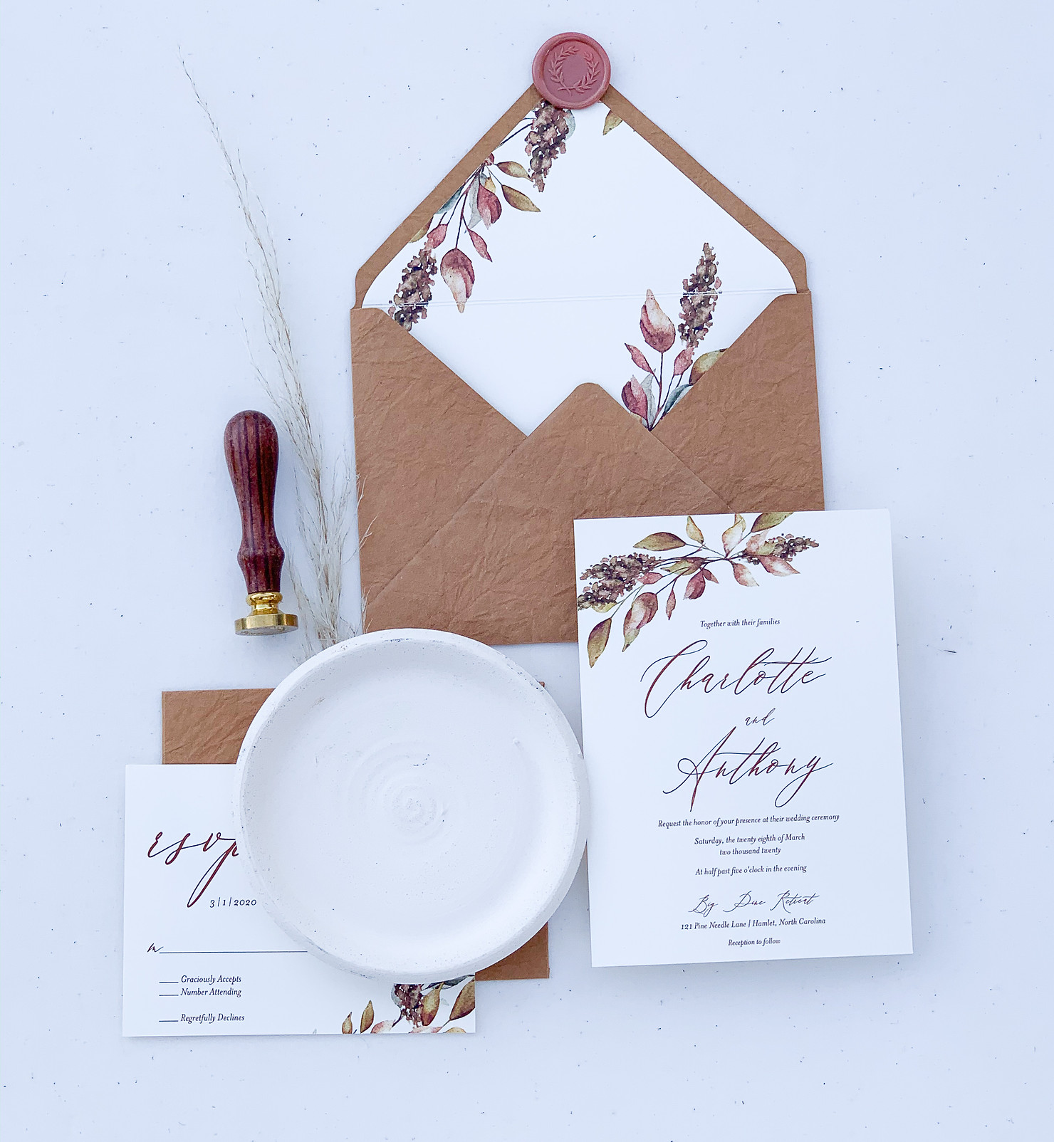 Wedding Stationary-Hillside Florist