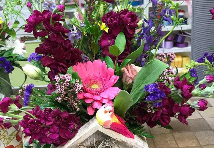 Bird House Cut Flowers