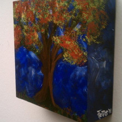FALL FIESTA 6 X 6 ACRYLICS ON CRADLED WOOD COLLECTION OF R. UGALE