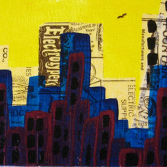 EsEf MINI ACRYLIC AND PAPER ON CANVAS BOARD COLLECTION OF N. BARLOW